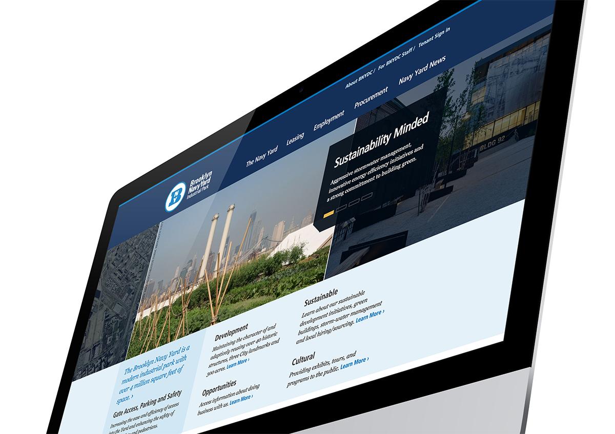 BROOKLYN NAVY YARD website on the computer