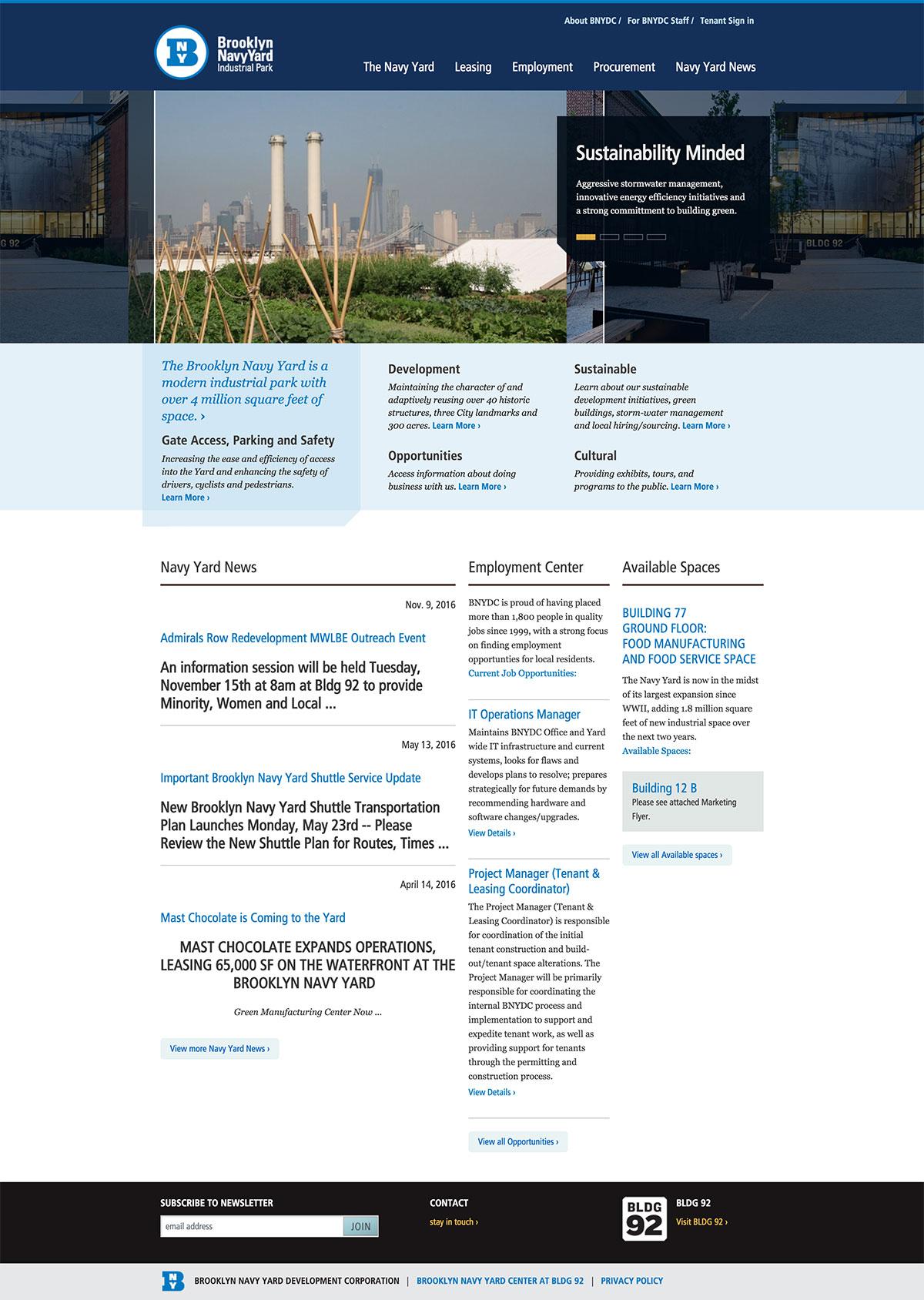 BROOKLYN NAVY YARD website