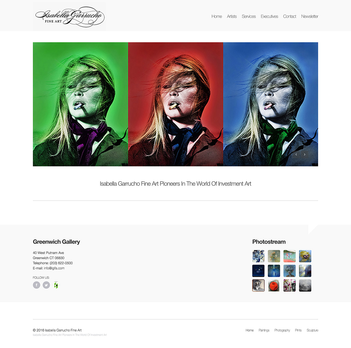 Isabella Garrucho Fine Art website